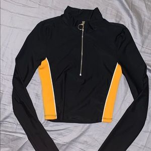 O ring quarter zip
